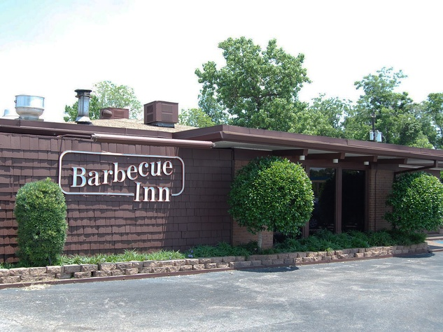 Barbecue Inn Houston interior with people