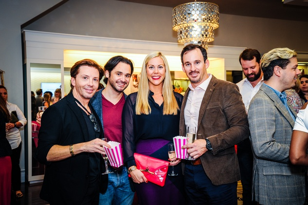 David Bamford, from left, Luis Perez, Heather McLeskey and Shawn Conerly at Elaine's Big Life premier party at Elaine Turner November 2014