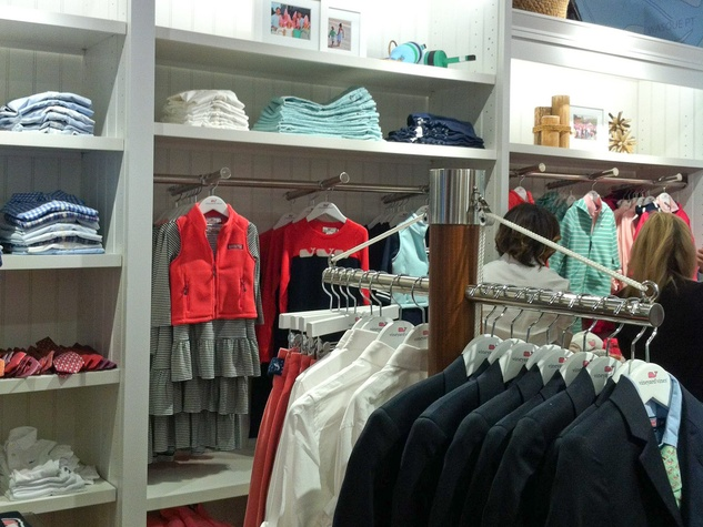 Vineyard Vines store in The Woodlands October 2013 girls' clothing department