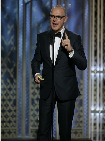 Michael Keaton at the 2015 Golden Globe Awards