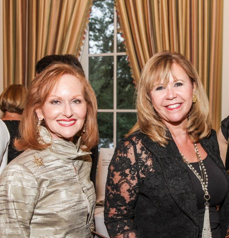 Carol Sawyer, left, and Cyndy Garza Roberts at Best Cellars September 2014