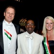 213 Mitch Little, from left, Domingo Esono and Sandy Little at the Consular Ball October 2013