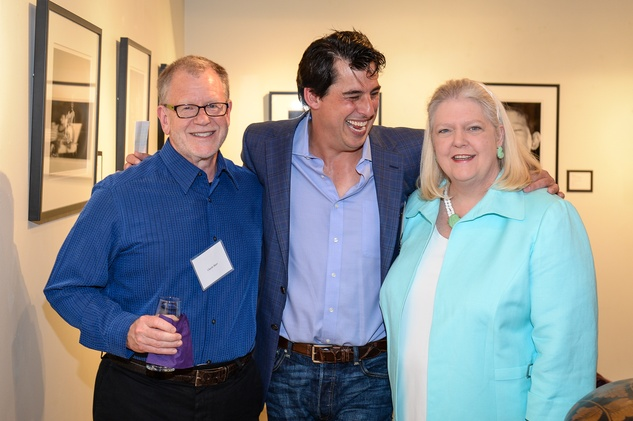 45 Carles Rater, from left, Fulton Davenport and Marilyn Thompson at the HeartGift photo exhibition May 2014