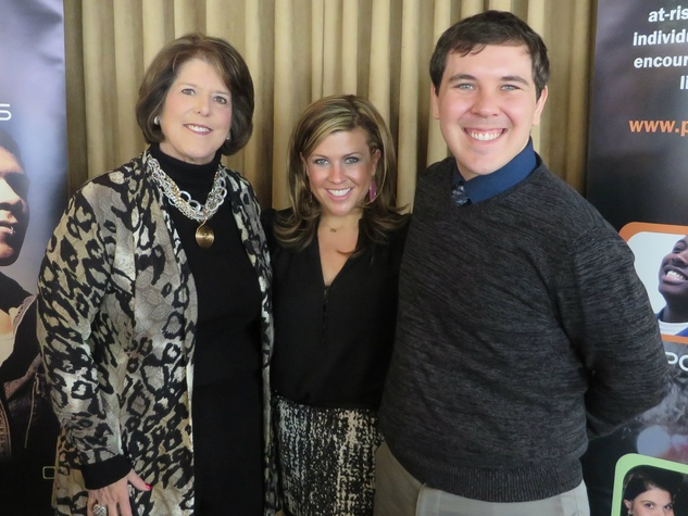 Ginny Martin, Zach Bartush, Promise House Donor Luncheon
