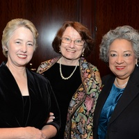 62 Mayor Annise Parker, from left, Kathy Hubbard and Lenora Sorola-Pohlman at the Greater Houston Women's Hall of Fame Gala December 2013