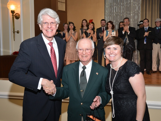 Bob Simpson, from left, Harry Webb and Becky Tobin at the Houston Chamber Choir Gala April 2014