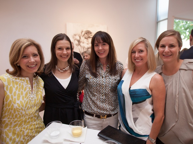 3 Christina Hanson, from left, Frances Taplett, Kelly Hamman, Nancy Mathe and Ashley Srouji at Musiqa's Spring Benefit May 2014