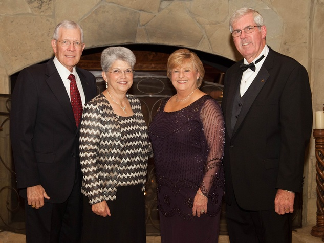 Charles and Laura Millikan, from left, and Janet and Randy Gilmore at the University of St. Thomas Irish Gala December 2013