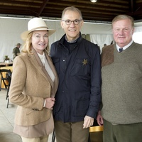 Alice Mosing, from left, Gary Tinterow and Keith Mosing at The Fine Art of Shooting March 2015