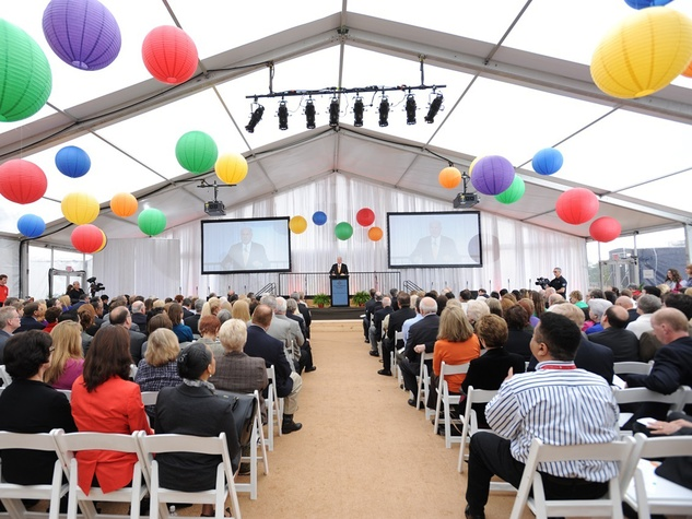 10 Mark A. Wallace speaking to attendees at the Texas Children's  Hospital - The Woodlands groundbreaking February 2014