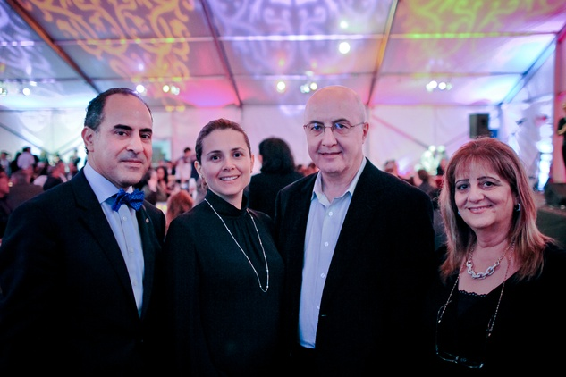 Abdel A. Elkhadiri, from left, Dania Dandashli, Wadih El Hajj, Wafa Abdin at the FotoFest opening party March 2014
