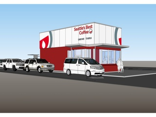 Rendering of Seattle's Best Coffee drive-thru