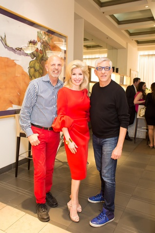 Clifford Pugh, Nancy Marcus Golden, John Dascoulias at International Soiree kickoff