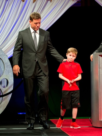honorary co chair troy aikman and bryce duffy, childrens cancer fund luncheon