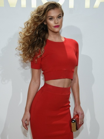 Nina Agdal attends the new Gold Collection fragrance launch hosted by Michael Kors
