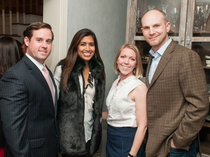 Houston Symphony Young Associates Council Reception, December 2012, Chris Brown, Divya Brown, Brooke Richards, Nate Richards