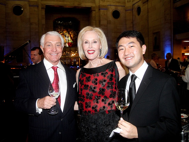 David and Claudia Hatcher, from left, with Boson Mo at the Da Camera Gala April 2014