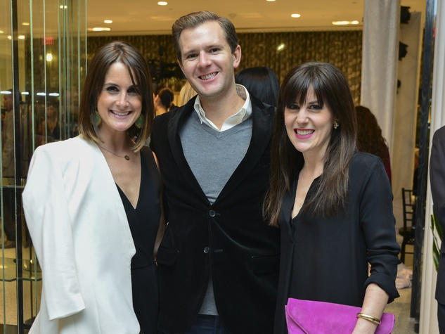 7 Jenny and Kyle Webber, from left, with Lauren Mills at the Dec My Room Fashion Show February 2014