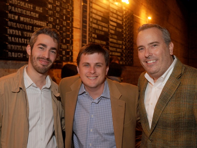 Jordan Dupuis, from left, Corbett Parket and Jason Fuller at the CounterCurrent Kick-Off March 2014