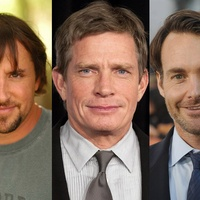 Richard Linklater, from left, Thomas Haden Church and Will Forte
