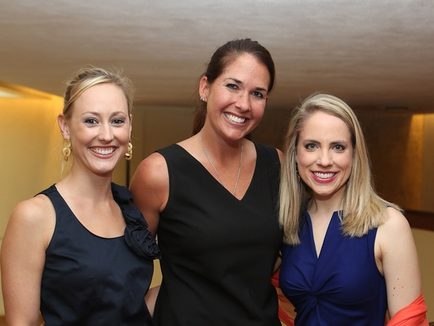 Alley Theatre Young Professionals Kick-Off June 2013 Katie Chachere, Jennie Simmons, Kristin Kruse