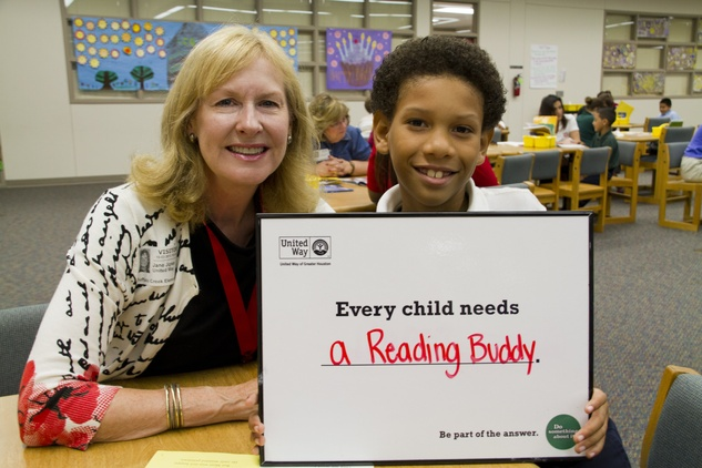United Way of Greater Houston, children, learning to read