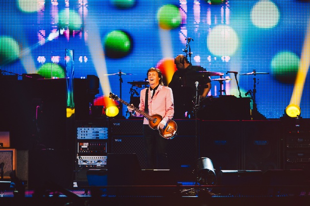 Paul McCartney at the Frank Erwin Center lights