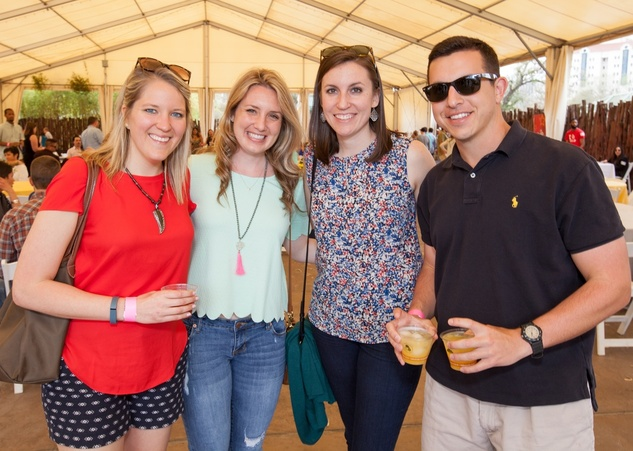 Houston Zoo Flock brunch, March 2016, Megan Stevens_ Alli Vise_ Stephanie Coco_ Mitchell Luckett