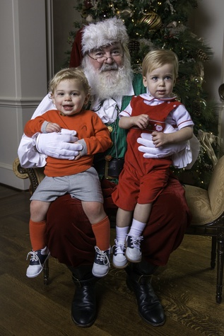 1 Marshall Mosing, left, and Nicholas Mosing with Santa at the Houston Symphony Magical Morning December 2014