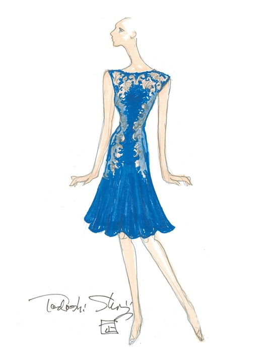 Sketches for fall 2014 collections January 2014 Tadashi Shoji
