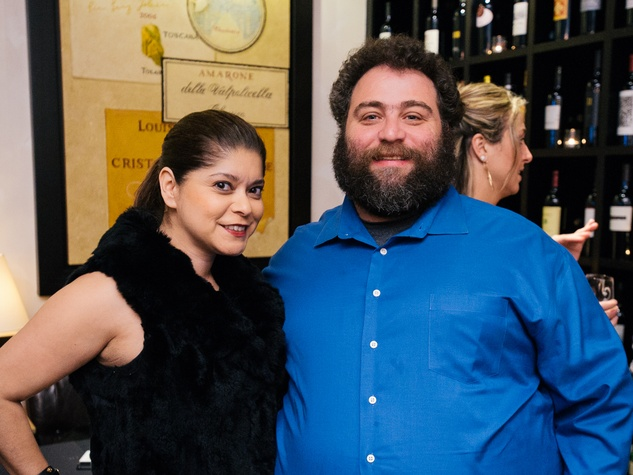 4 Marcy de Luna and Eric Sandler at the Artesa wine tasting at Cru March 2014