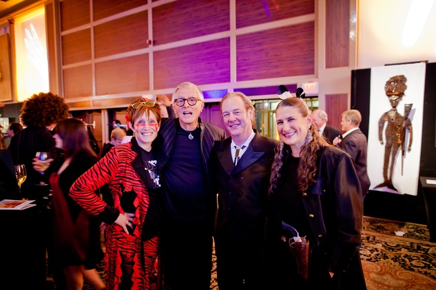 35 Curry Glassell, from left, McKay Otto, Keith Coffee and Claire Cusack at the Orange Show Gala November 2014