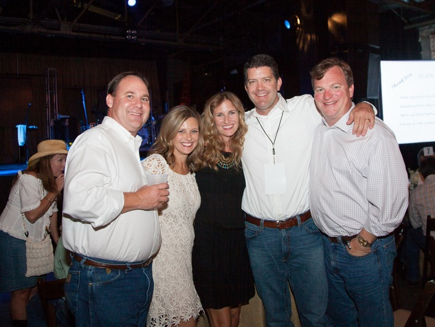Steve and Leslie Shofner, from left, Lindsay and Paul Laudadio and Posie Clinton at Two Steppin' with TIRR Concert with Jerry Jeff Walker and Clay Walker October 2014