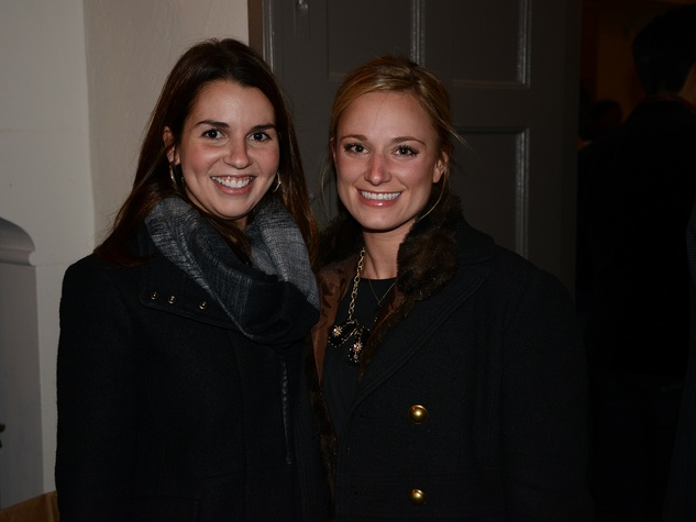 Mollie Mansell, left, and Lauren Wooten at the Hermann Park Conservancy's Urban Green event November 2014