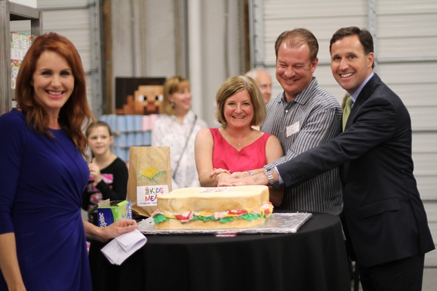 Houston, Kids Meals New Faciity Celebration, May 2015, Sally MacDonald, Cristina Vetrano, J.R. Irvin, Kyle Schuenemann