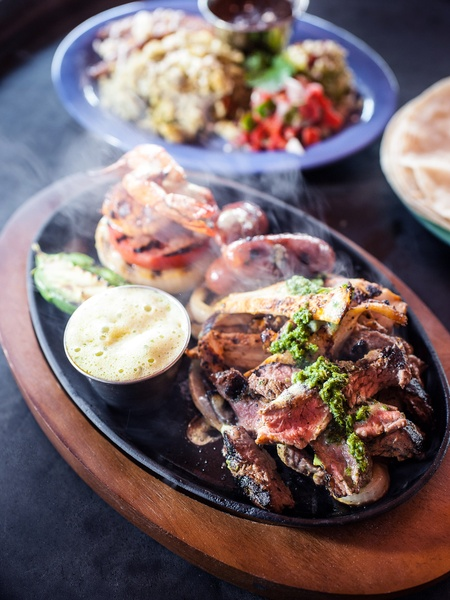 2013 Mixed Grill platter, my favorite, with chimichurri grilled steak ...