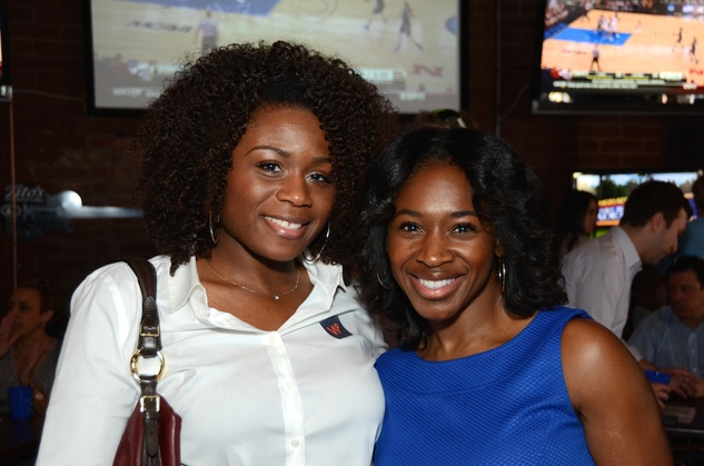 Denedra Brown-Finley, left, and Davonda Hubbard Williams at the Women of Wardrobe Spring Fling March 2014