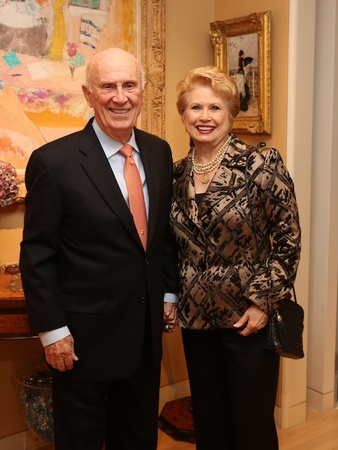 Carolyn Farb party, January 2013, Jack Blanton, Ginger Blanton