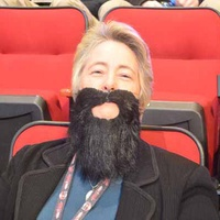 Annise Parker, beard, NBA All-Star Game, February 2013