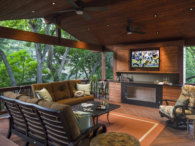 Outdoor Living Space austin design experts reveal top trends for your outdoor living