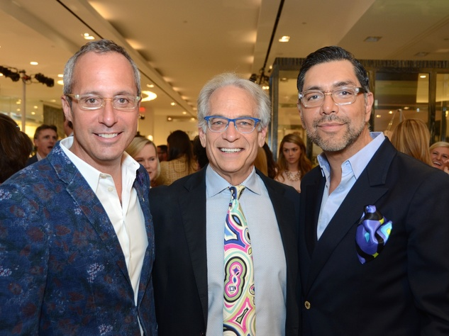 18 Mark Sullivan, from left, Mickey Rosmarin and Ceron at Fresh Faces of Fashion event at Tootsies September 2014