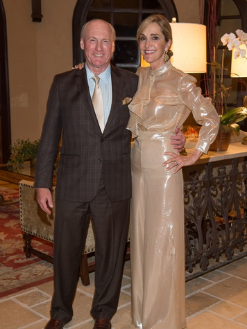 Scott and Jana Arnoldy at the Pin Oak Charity Horse Show kick-off February 2014