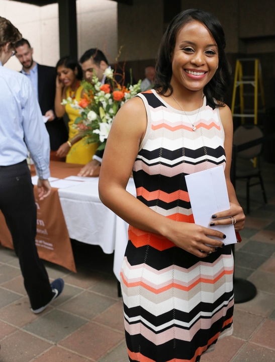 Kara Calhoun getting her Match Day letter at UT Medical School