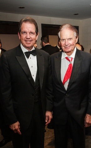 9 Welcome Wilson Jr., left, and Welcome Wilson Sr. at the UH Downtown 40th anniversary gala January 2015