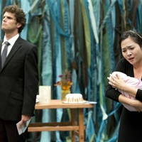 5, Lee Gregory (Jensen) and Hana Park (Soo Yun) in From my Mother's Mother, Houston Grand Opera