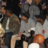Chris Brown, Adrian Peterson fashion show, House of Dereon