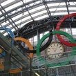 2012 Olympic rings, London, St. Pancras Station