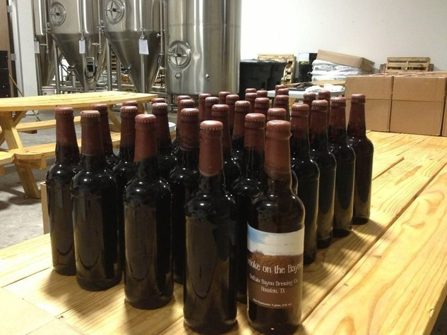 Buffalo Bayou Brewing Co., Smoke on the Bayou, bottled beer, December 2012