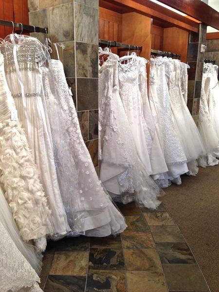 Slideshow bridezilla alert largest designer wedding gown for Wedding dress sample sale houston