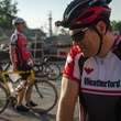Chris Robertson prepares for a 40 mile ride